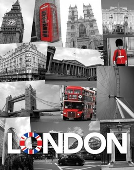 Londres - union jack Affiche