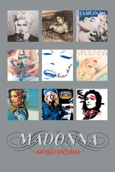 Madonna - album covers silver Poster