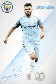 Manchester City - Aguero 16/17 Affiche