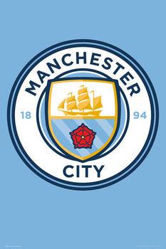 Manchester City - Crest 15/16 Affiche