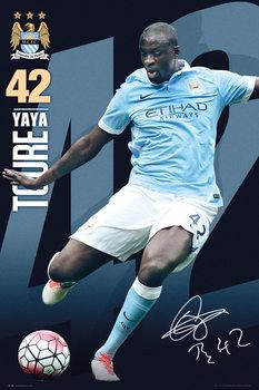 Manchester City FC - Toure 15/16 Affiche