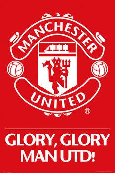 Manchester United - crest Affiche
