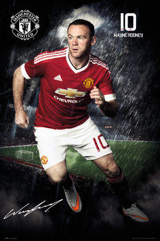 Manchester United FC - Rooney 15/16 Affiche