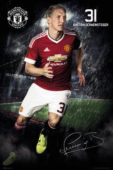 Manchester United FC - Schweinsteiger 15/16 Affiche
