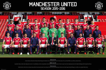 Manchester United FC - Team Photo 15/16 Affiche