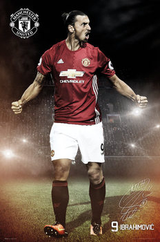 Manchester United - Ibrahimovic 16/17 Affiche