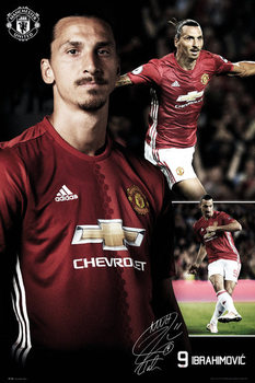 Manchester United - Ibrahimovic Collage 16/17 Affiche