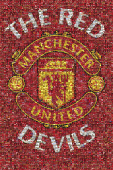 Manchester United - mosaic Affiche