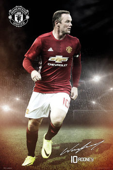 Manchester United - Wayne Rooney 16/17 Affiche