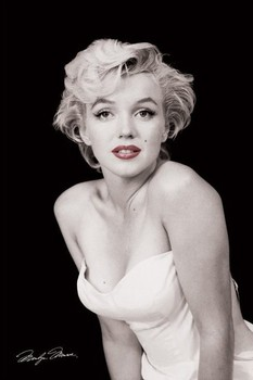Marilyn Monroe - red lips Affiche