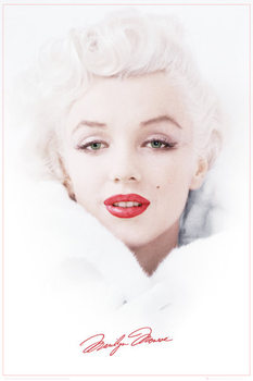 Marilyn Monroe - White Affiche