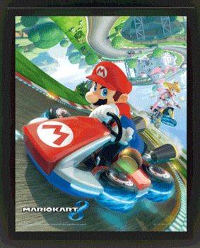 Mario Kart 8 Poster en 3D encadré