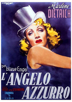 Marlene Dietrich - Der Blaue Engel Affiche