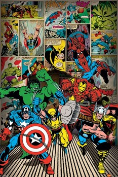 MARVEL COMICS - here come Affiche