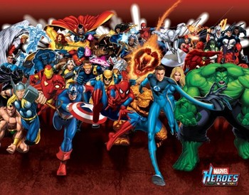 MARVEL HEROES - attack Affiche