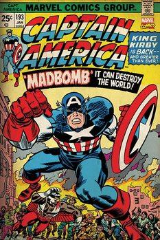 Marvel Retro - Captain America - Madbomb Affiche