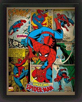 Marvel Retro - Spider-man  Poster en 3D encadré