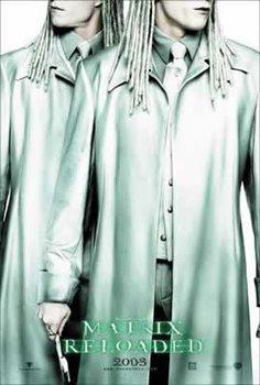 MATRIX RELOADED - twins Affiche