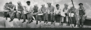 Men on girder Affiche