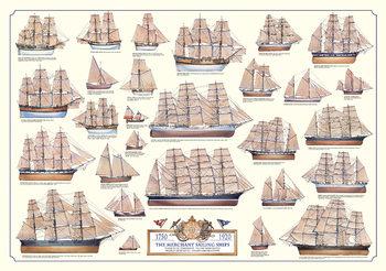 Merchant sailing ships Affiche