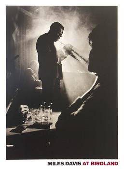 Miles Davis - live in Birdland Affiche
