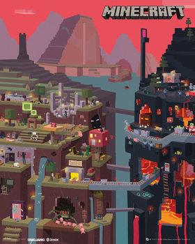 Minecraft - world  Affiche