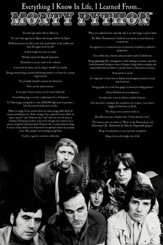 Monty Python - everything i know in life Affiche