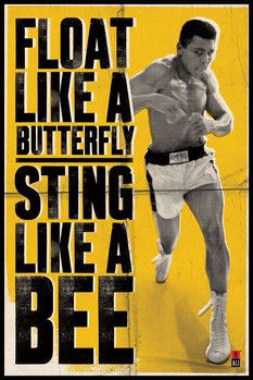Muhammad Ali - float like a butterfly Affiche