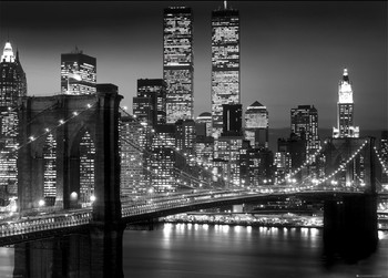New York - brooklyn night Affiche