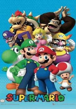 Nintendo - cast Poster en 3D