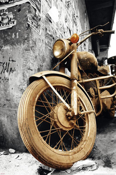 Old motorcycle Affiche