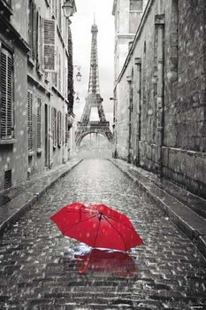 Paris - Eiffel Tower Umbrella Affiche