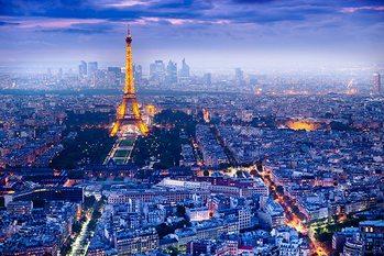 Paris - View Over Paris Affiche