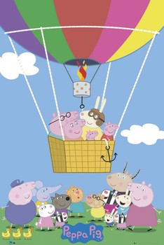 PEPPA PIG - balloon Affiche