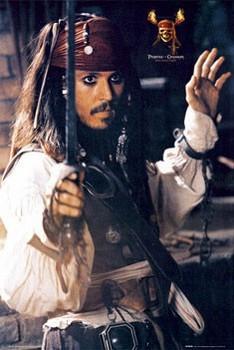 Pirates of Caribbean - Depp sword Poster