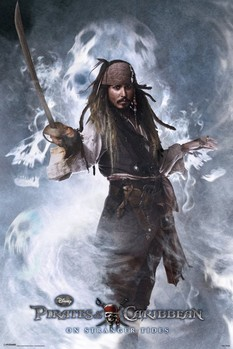 PIRATES OF THE CARIBBEAN 4 - jack Affiche