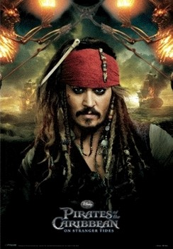 PIRATES OF THE CARIBBEAN 4 - jack  Poster en 3D