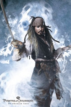 PIRATES OF THE CARIBBEAN 4 - jack sword Affiche