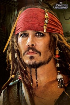 PIRATES OF THE CARIBBEAN 4 - red bandana Affiche