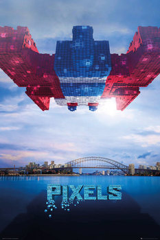 Pixels - Galaga Affiche