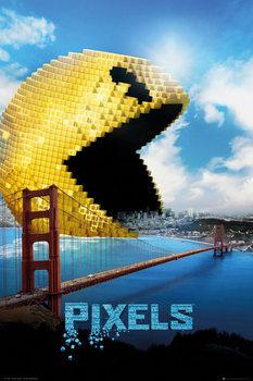 Pixels - Pacman Affiche
