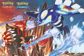 Pokemon - Groudon and Kyogre Affiche