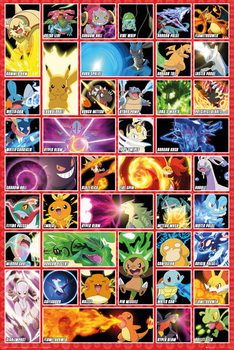Pokémon - moves Affiche