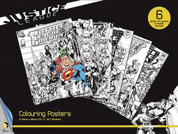 DC Comics - Justice League Poster à colorier