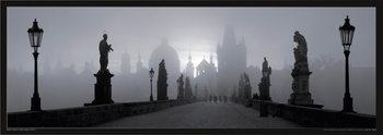 Prague – Charles bridge / b&w Affiche