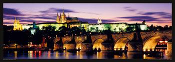 Prague – Prague castle & Charles bridge Affiche