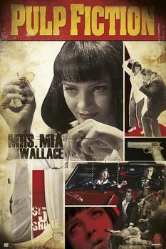 Pulp Fiction - Mrs. Mia Wallac Poster