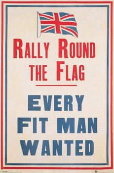 Rally round the flag Poster