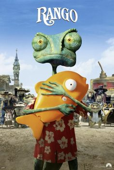 Rango - Rango with Mr. Timms Affiche