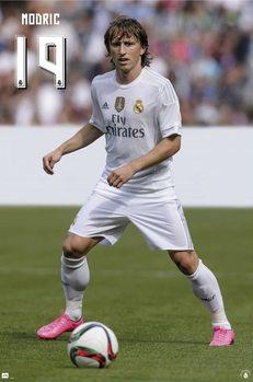 Real Madrid 2015/2016 - Modric accion Affiche